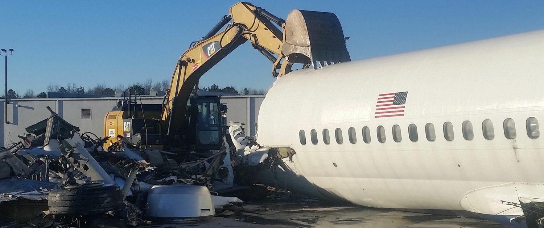 total demolition of a plane